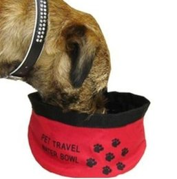 tigela de água dobrável Desconto Tigelas de viagem para animais de estimação dobrável Oxford pano à prova d 'água portátil dog bowl pet tigela dobrável de viagem dobrável tigela de água
