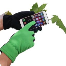 Celular android ao ar livre on-line-Unisex ao ar livre Luvas de Dedo Cheio Luvas de Tela de Toque Capacitivo Polar Para Iphone Android Celular inverno luva de ciclismo térmica