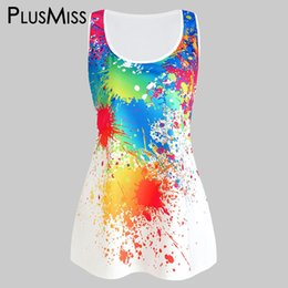 f11b4cba China Plusmiss Plus Size Xxxxxl Fashion Casual Tie Dye Summer Tank Tops  Black White Big Size