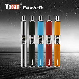 E zigaretten für trockene kräuter online-[1PC] Authentisches Yocan Evolve-D Dry Herb Vaporizer Kit Hot E-Zigarette Kits multi Farben 100% Vorlage