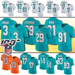 Delfines online-Miami 3 Jersey Josh Rosen Dolphins 13 Dan Marino 17 Ryan Tannehill 29 Minkah Fitzpatrick 21 Frank Gore 93 Ndamukong Suh 23 Jay Ajayi