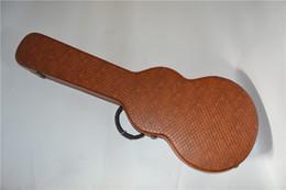 2019 caso di chitarra marrone Nuovo stile, custodia rigida per chitarra elettrica standard di alta qualità, custodia rigida in pelle marrone sconti caso di chitarra marrone
