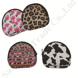 portafoglio leopardo per le donne Sconti Leopard Rose Print RTS Portamonete Sacchetti di trucco in neoprene Borsa da viaggio portatile Borsa da viaggio Impermeabile Portafogli da donna Borse cosmetiche C82103