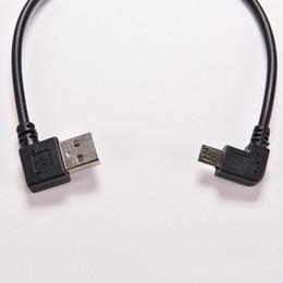 2019 adaptador usb do ângulo recto micro 1PC 27 centímetros Hot Right Angle USB 2.0 macho para 90 graus de ângulo esquerdo Micro USB 5 pinos macho cabo Cord Adapter Connector Converter adaptador usb do ângulo recto micro barato