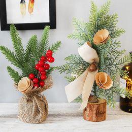 vasi da finestra Sconti 25CM Mini simulazione Albero di Natale Decorazione domestica per desktop Decorazione per finestra Finestra Decorazione natalizia Per la decorazione domestica Navidad