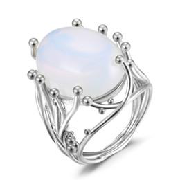Pedras grandes quadradas on-line-Nova pedra de ovo de ganso quadrado diamante anel da princesa do exagero europeu e americano grande festa de diamante