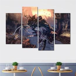 Шестерня онлайн-Отпечатки на холсте плакатная роспись 4 комплекта gears of war xbox игра для гостиной отделка стен