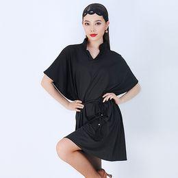 Lateinische tanzkleidung online-Latin Dance Kleid Für Frauen Lose Schwarz Ballsaal Praxis Tragen Tango Cha Cha Salsa Samba Rumba Trainingskleidung DC1676