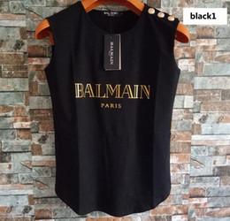 frauen tanks Rabatt Frauen Designer Weste Tshirts 2019 Marke Womens ärmellose Shirts Tasten Tanks Frauen Luxus Camis Tops 19 Styles