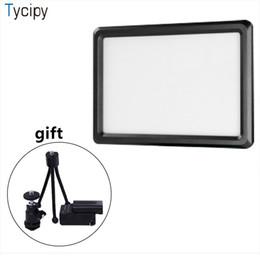 Licht tragbares kamerastativ online-Tycipy Portable LED Video Studio Füllen Licht Fotografie Foto Beleuchtung Für DSLR Kamera mit Mini Stativ Kugelkopf F550 Batterie