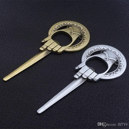 2019 jogos de estilo livre Abridor de Garrafa de Metal livre Bronze Antigo Mão do Rei e Game of Thrones estilo Abridor De Cerveja De Vinho Liga de Metal Ferramentas de Cozinha desconto jogos de estilo livre
