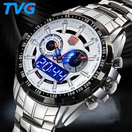 2019 часы tvg Top  Men Watches TVG Men Sports Watches Fashion Waterproof  Army Watch Stainless Steel Wrist Watch reloj hombre дешево часы tvg