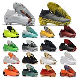 Botas de futebol feminino on-line-2019 Sapatos De Futebol De Futebol Mercurial Superfly VI 360 Elite FG KJ 6 12 CR7 Ronaldo Neymar Dos Homens Das Mulheres Meninos Botas De Futebol Botas De Futebol