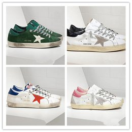 3694f82db4e ... sneakers Couro Genuíno Vilão Dermis Sapatos Casuais Das Mulheres Dos  Homens de Luxo Superstar traine35-45 sapatinhos de sapatos dourados barato