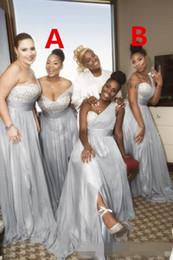 Canada Robe de demoiselle d'honneur en mousseline de soie africain pays jardin formelle fête de mariage invité demoiselle d'honneur robe, plus la taille personnalisée faite Offre