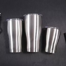 Curve Tumbler 12 oz 20 oz 30 oz Curva in acciaio inox a doppia parete vuoto tazza di corsa Sparkle olografico Bicchiere con coperchio a tenuta da