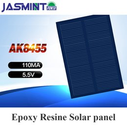 Painéis solares para brinquedos on-line-100mA 5.5 v painel solar china flexível células solares diy placa de polissilício 84 * 55mm painel mobole carregador de telefone diy solar toys