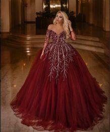 Argentina Vestido de noche Yousef aljasm 2018 Kim kardashian Cuello en V Manga larga Vestido de fiesta Cristal de plata rojo Kylie Jenner Zuhair murad Ziadnakad 023 Suministro