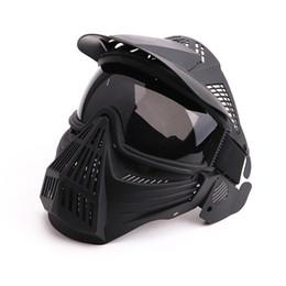 Máscara protectora completa de paintball online-Máscara facial completa transpirable Transformers Máscara líder Lente Visión protectora para la caza CS Wargame Paintball Mask