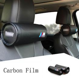 Coperture del bmw della sede dell'automobile online-auto collo cuscino poggiatesta Cuscino Auto sedile Head Cover resto del collo Cuscino BMW M copripoggiatesta accessori per interni