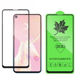 couverture d'honneur Promotion Protecteur d'écran en verre trempé incurvé 20D pour Huawei P20 P20 Lite P30 P30 Lite Nova 3E 4 Honor 8X film de protection de pleine couverture