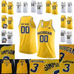 Maillot de basketball des Wolverines de la NCAA Michigan Ignas Brazdeikis Zavier Simpson Cole Bajema Isaiah Livers 25 Howard 2 Poole 24 King 5 Rose ? partir de fabricateur