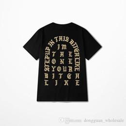 Kanye West je me sens comme Pablo Paris t-shirt noir githique imprimer t-shirts à manches courtes Hiphop tshirt hommes femmes Rap Tee Yhdx1115xx ? partir de fabricateur