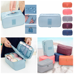 6styles Bras Storage Bag Travel Toiletry Bag Underwear Clothes Organizer Cosmetic Makeup Pouch Luggage Case portable Holder FFA1425