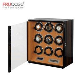 controllo automatico della luce Sconti Watch Winder scatola 9 caso di visualizzazione automatico della vigilanza con la luce LCD touch screen / Telecomando / LED per il regalo di compleanno