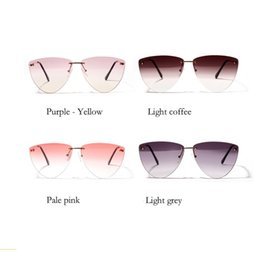 349dd42aa2 progressive lens Coupons - 2019 fashion women s borderless cat s eye  diamond-shaped transparent personality color