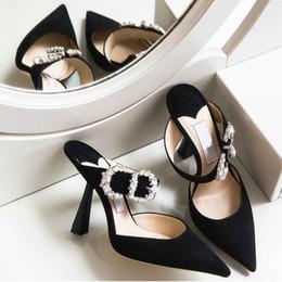 Zapatos de mujer online-Zapatos del partido de tarde de la moda para las mujeres señoras de las sandalias de los zapatos de boda de terciopelo talones tres colores zapatos de boda
