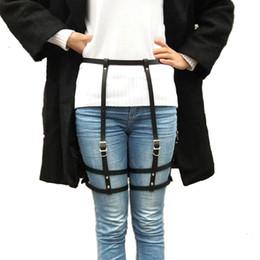 2019 nouvelle lingerie femmes sexy harnais érotique ceintures bondage lingerie jarretelle ceinture gothique punk faux cuir jarretière jambe ? partir de fabricateur