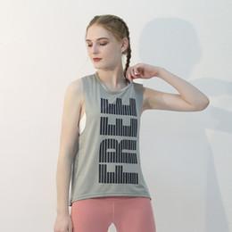 6334f6e188d95a Designer T-shirt fitness running suit fashion breathable sexy mesh sports  print vest cotton yoga vest T-shirt female