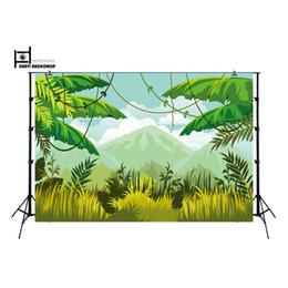 2020 fondo de la bandera Selva telón de fondo, telón de fondo de la selva de banner decoración, mesa de postres magdalena fondo decortive fiesta de cumpleaños XT-6499 telón de fondo rebajas fondo de la bandera