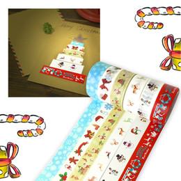 2020 papel de regalo rojo de navidad Navidad Washi Tape ciervos de la Navidad Patrón Wrap coloreado rojo Washi cinta decorativa de papel Decoración japonesa papel de regalo rojo de navidad baratos