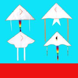 cerf-volant facile Promotion 4 Styles mixtes Peinture bricolage coloré vol Pliable extérieur plage Cerf-volant Enfants Enfants Sport Jouet drôle L453