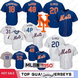 0a858c26987 mlb jerseys 2019 - 20 Pete Alonso 48 Jacob DeGrom  18 Darryl Strawberry New  York