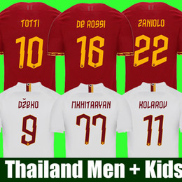 camisa totti Rebajas Tailandia DE ROSSI DZEKO ZANIOLO AS ROMA camiseta de fútbol roma 2019 camiseta TOTTI PEROTTI 19 20 camiseta de fútbol 2020 roma, hombres y niños, uniformes