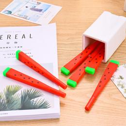 1 Stücke Nette wassermelone Gel Stift Schreiben Unterzeichnung Stift Schule Bürobedarf Student Schreibwaren Belohnung 0,38mm von Fabrikanten