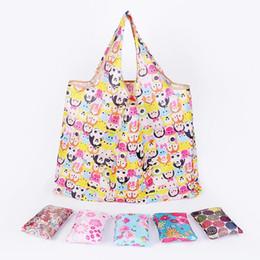 eco amigável sacos livre Desconto Novo Tote Bags Grande Capacidade Frete Grátis À Prova D 'Água Sacos de Compras Dobráveis Saco De Armazenamento Reutilizável Eco Friendly Sacos de Compras DH0388