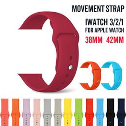 Deutschland Silikonband Band für Apple-Uhrenarmband-Bügel 40mm 44mm 42mm 38mm Armband Gummiarmband für Serie 4 3 2 1 Apple-Uhr Versorgung