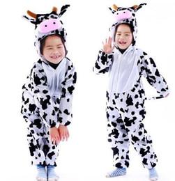 Cosplay disfraces de vaca online-Nuevo estilo el 2018 niños cosplay Vaca cebra tigre Adecuado para niños y niñas Traje de escenario estilo corto bailando vestimenta
