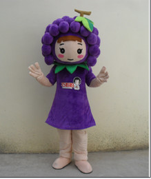 2019 trajes do dia das bruxas da fruta Uva menina Mascot Costume Fruit Personagem de Desenho Animado Traje Do Partido Do Dia Das Bruxas Fancy Dress Adulto mascotte carnaval trajes do dia das bruxas da fruta barato