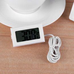 Elektronik Dijital Termometre Sıcaklık Ölçer Balık Tankı Su Sıcaklığı Göstergesi Su Geçirmez ile Gelişmiş Buzdolabı Termometresi cheap fish water thermometer nereden balık su termometresi tedarikçiler