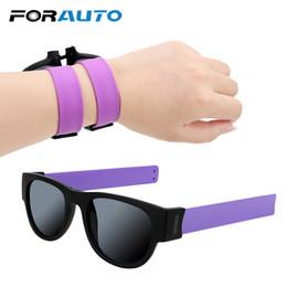 FORAUTO Portable Fold Moto Occhiali Occhiali polarizzati Sport all'aria aperta Attrezzatura protettiva Cerchio Occhiali da sole rotondi Protezione UV da tint occhiali da sole fornitori