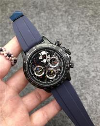 Luxus-uhren porzellan online-China Luxus Herrenuhr Hohe Qualität VK Quarz Master Uhren Für Männer Srubber Gürtel Business Chronographie Uhr Alle funktionale Arbeit
