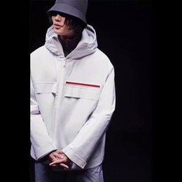warmen Italy Männer Frauen Winter Windjacke Oberbekleidung HFTTJK096 Mantel 18FW Thick Milano mit Kapuze tragen windundurchlässigen Nvmn0wyOP8