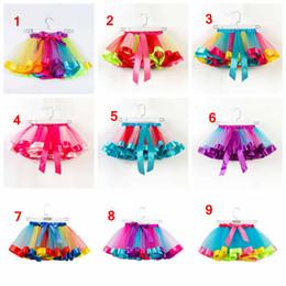 e3975e9eabb3c 2-11 ans filles tutus arc en ciel couleur bébé fille tutu jupes enfants  belle bulle jupe bébés couche couche robe