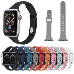 2019 ersatz für uhren Weiche Silikon Sport Band Ersatz für Apple Watch 4 3 2 1 Band Handschlaufe 40mm 44mm 42mm 38mm Smart Watch rabatt ersatz für uhren