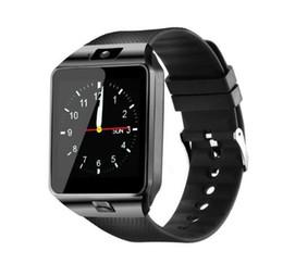 Tarjeta iphone 2g online-Smart Watch DZ09 Bluetooth Smartwatch Android Llamada de teléfono Relogio 2G GSM SIM Tarjeta cámara para iPhone Samsung HUAWEI PK GT08 A1